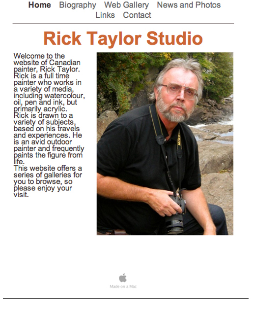 Rick Taylor Website